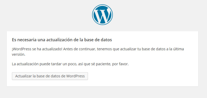 Actualizacion automatica base datos wordpress completa